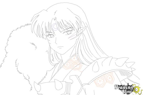 How to Draw Sesshomaru from Inuyasha - Step 17