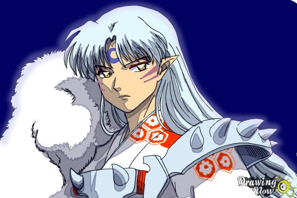 How to Draw Sesshomaru from Inuyasha - Step 18
