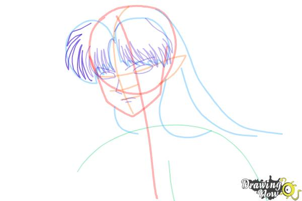 How to Draw Sesshomaru from Inuyasha - Step 7