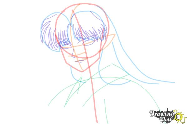 How to Draw Sesshomaru from Inuyasha - Step 8