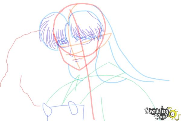 How to Draw Sesshomaru from Inuyasha - Step 9
