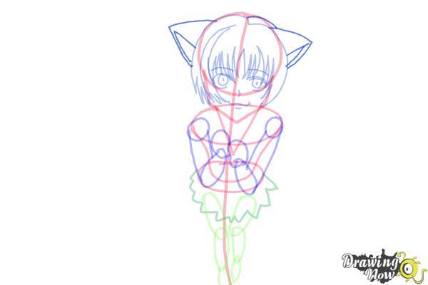 How to Draw a Neko - Step 11