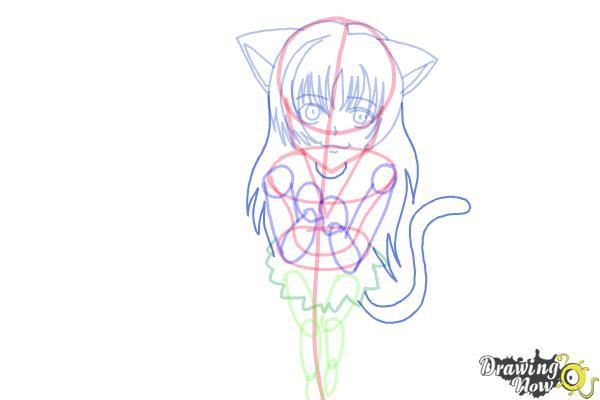 How to Draw a Neko - Step 12