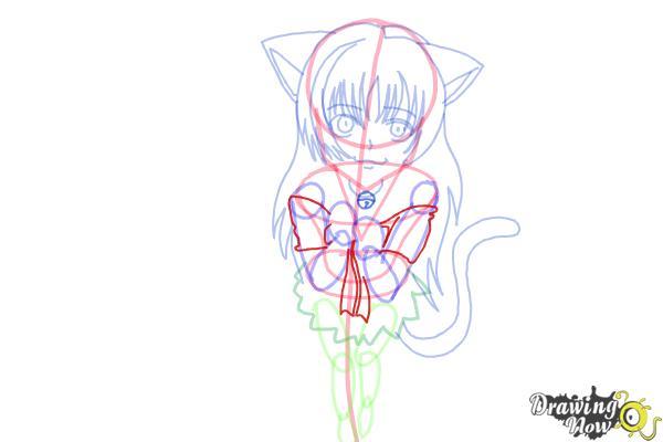 How to Draw a Neko - Step 13