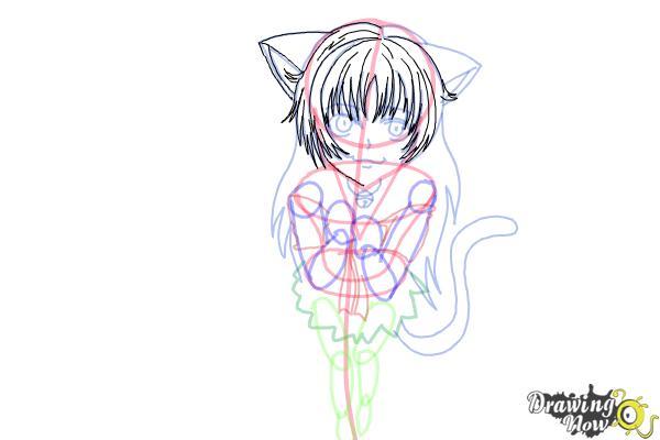 How to Draw a Neko - Step 14