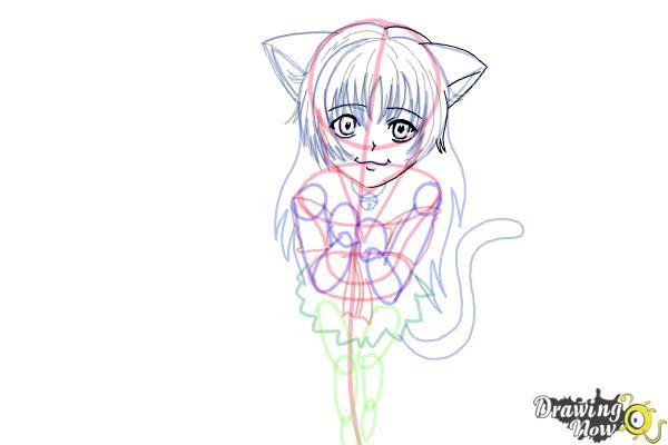 How to Draw a Neko - Step 15