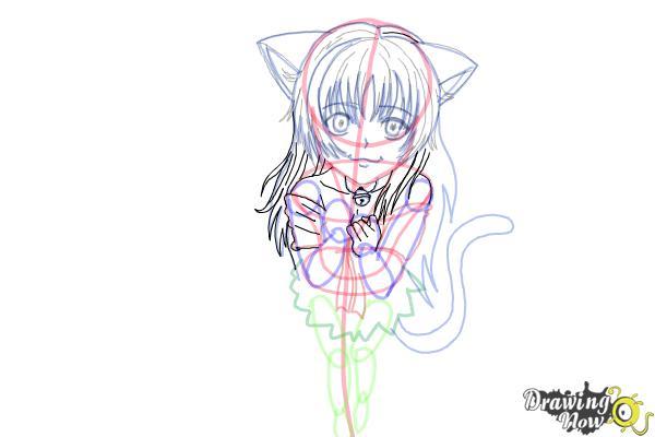 How to Draw a Neko - Step 16
