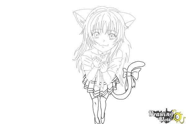 How to Draw a Neko - Step 18
