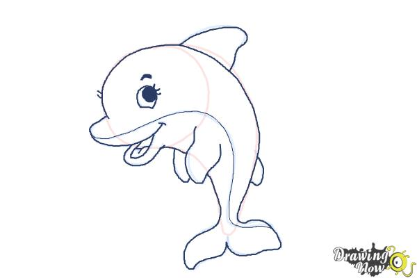 How to draw a cute dolphin drawingnow how to draw a cute dolphin step 9 thecheapjerseys Choice Image