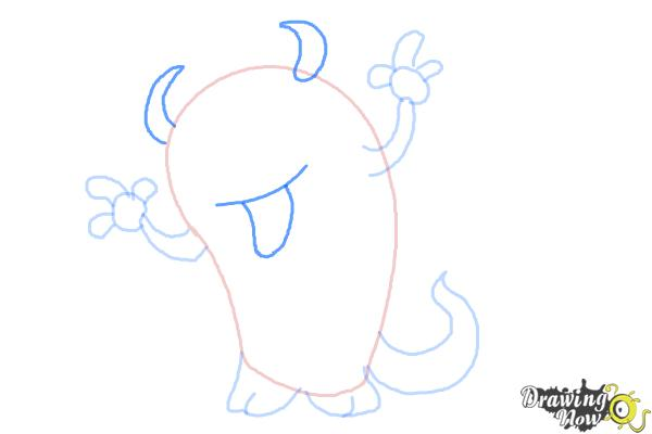 How to Draw a Cute Monster - Step 6