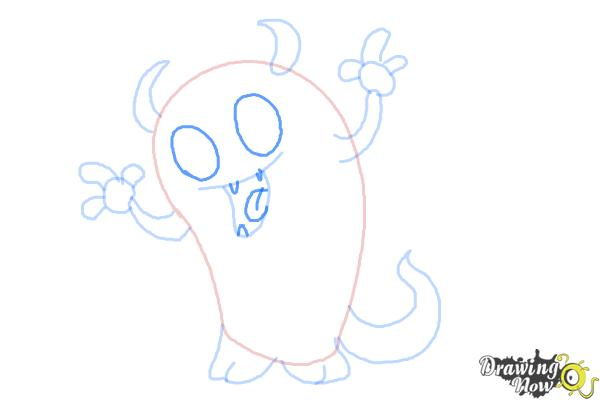 How to Draw a Cute Monster - Step 7