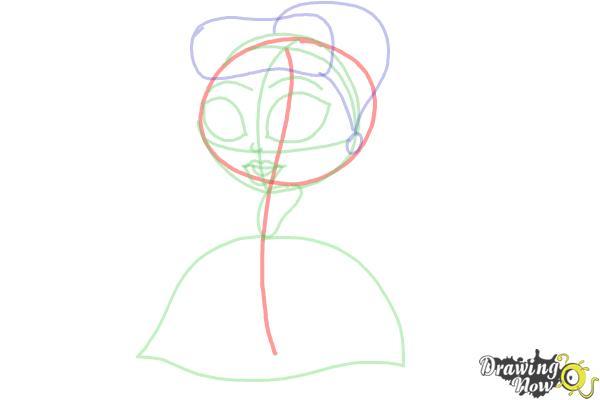 How to Draw Chibi Cinderella - Step 5
