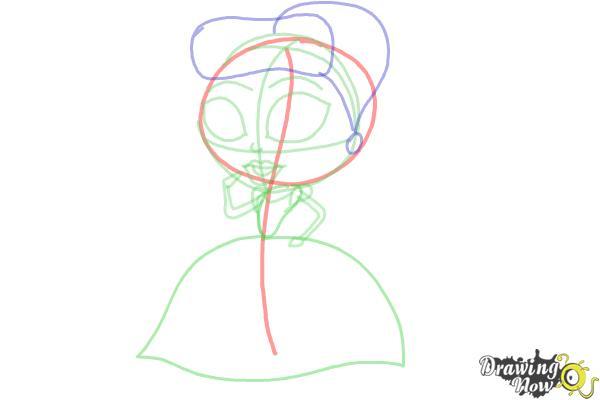 How to Draw Chibi Cinderella - Step 6