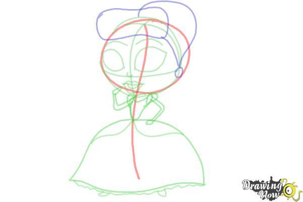 How to Draw Chibi Cinderella - Step 7