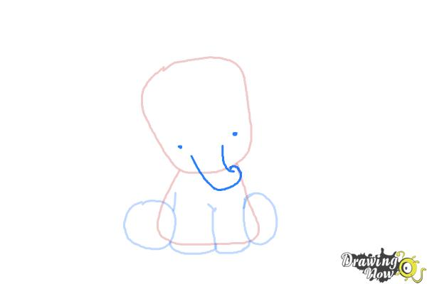 How to Draw a Cute Elephant - Step 5