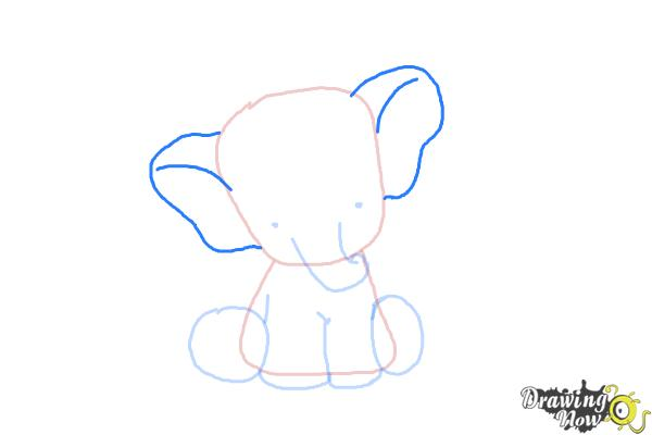 How to Draw a Cute Elephant - Step 6