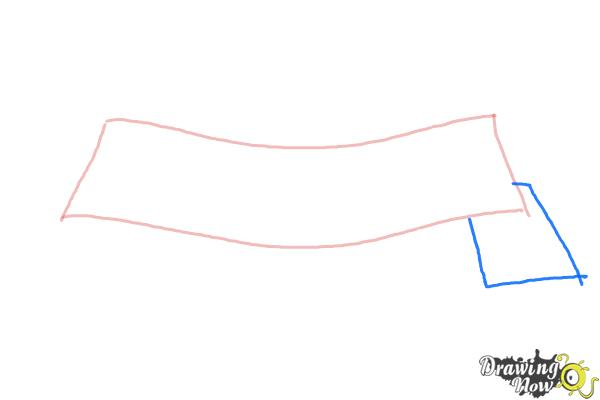 How to Draw a Ribbon - Step 2