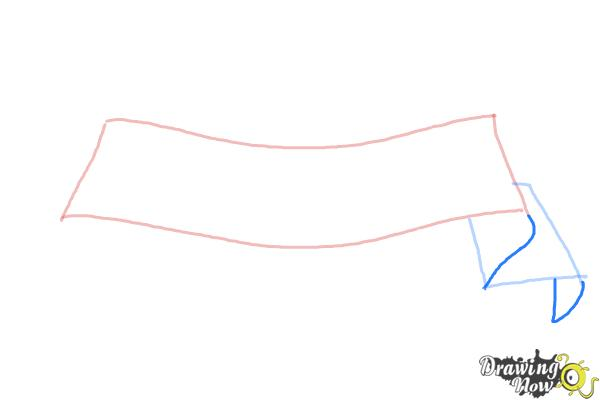 How to Draw a Ribbon - Step 3