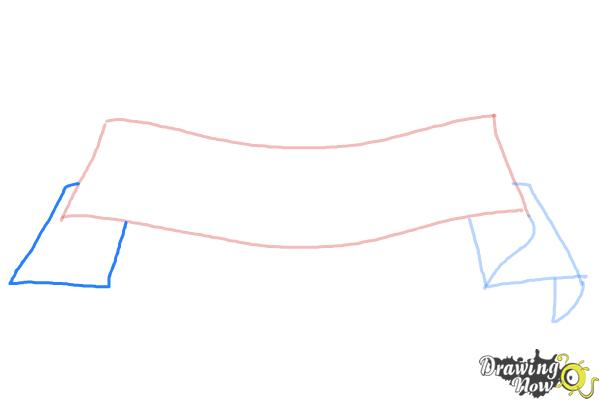 How to Draw a Ribbon - Step 4