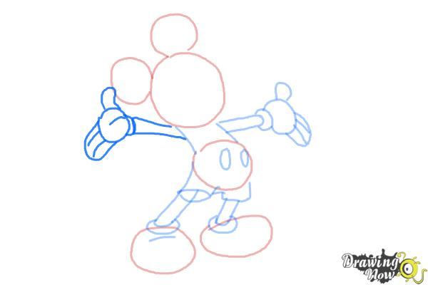 How to draw mickey mouse full body drawingnow for How do you draw a mouse