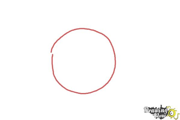 How to Draw Lakers Logo - Step 1