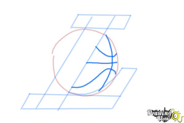 How to Draw Lakers Logo - Step 4