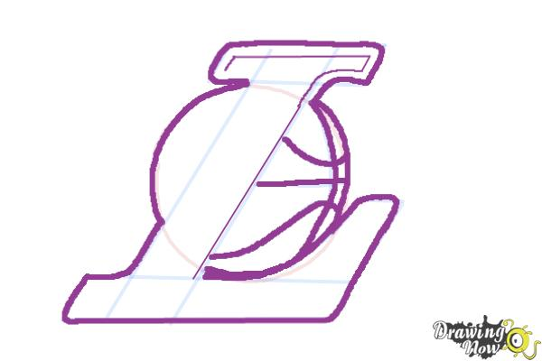 How to Draw Lakers Logo - Step 5
