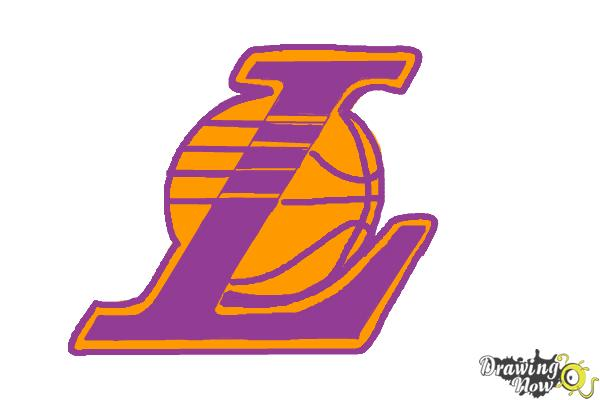 How to Draw Lakers Logo - Step 8