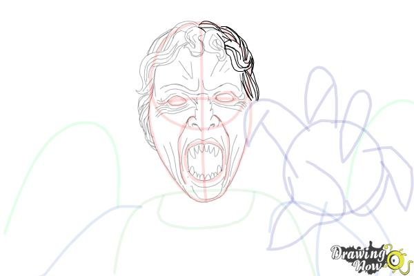 How to Draw a Weeping Angel from Doctor Who - Step 11