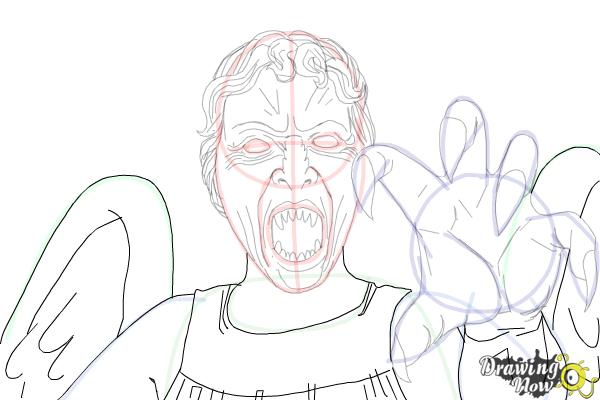 How to Draw a Weeping Angel from Doctor Who - Step 13