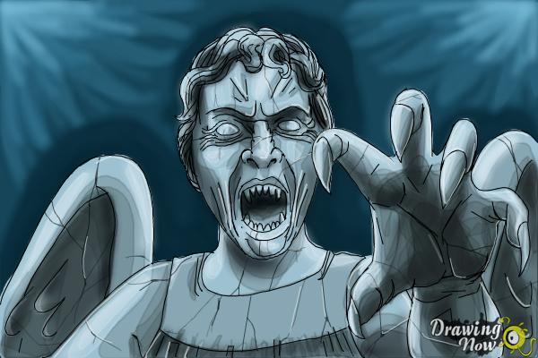 How to Draw a Weeping Angel from Doctor Who - Step 14