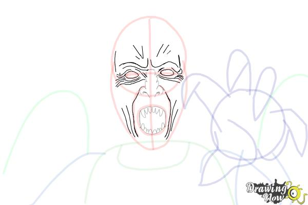 How to Draw a Weeping Angel from Doctor Who - Step 9