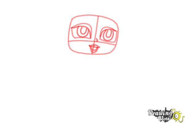 How to Draw Chibi Aurora - Step 3