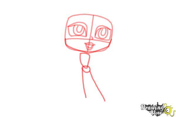 How to Draw Chibi Aurora - Step 4