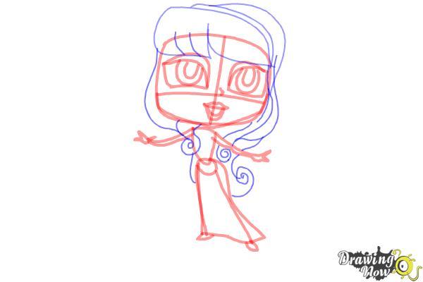 How to Draw Chibi Aurora - Step 7