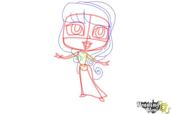 How to Draw Chibi Aurora - Step 8