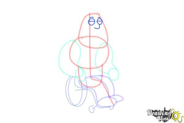 How to Draw Joe, Joseph Swanson from Family Guy - Step 6