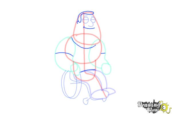 How to Draw Joe, Joseph Swanson from Family Guy - Step 7