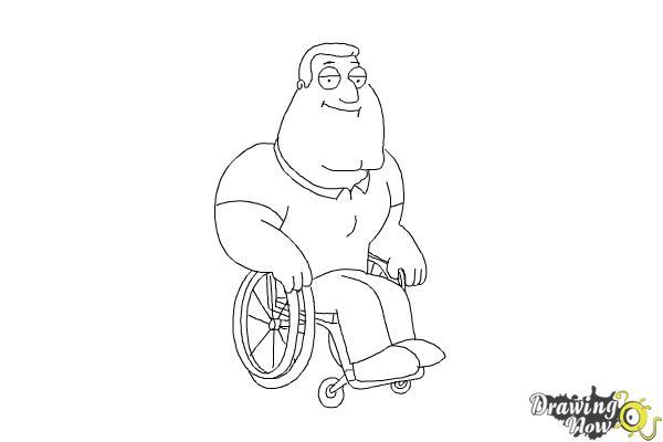 How to Draw Joe, Joseph Swanson from Family Guy - Step 8