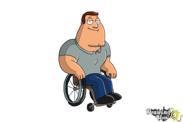 How to Draw Joe, Joseph Swanson from Family Guy - Step 9