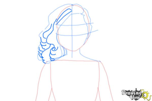 How to Draw Dracubecca from Monster High Freaky Fusion - Step 5