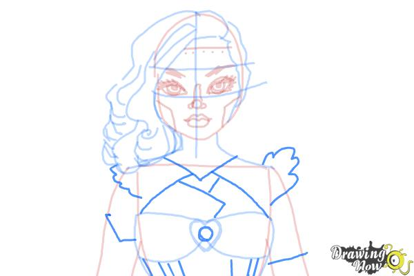 How to Draw Dracubecca from Monster High Freaky Fusion - Step 9