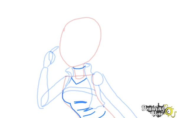 How to Draw Cleolei from Monster High Freaky Fusion - Step 5