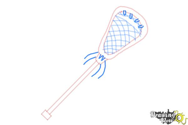 How to Draw a Lacrosse Stick - Step 6