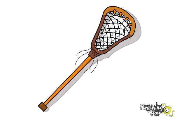 How to Draw a Lacrosse Stick - Step 8