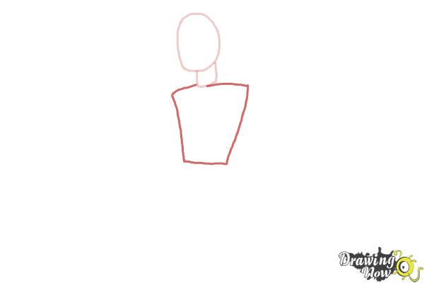 How to Draw a Woman Body - Step 3