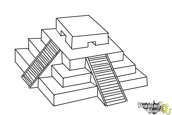 How to Draw a Ziggurat - Step 10