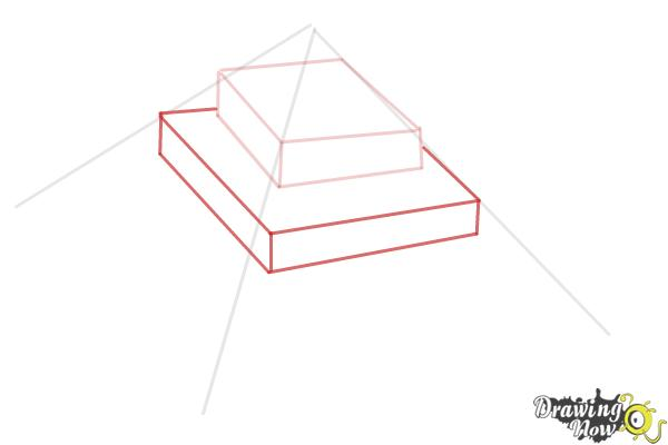 How to Draw a Ziggurat - Step 4