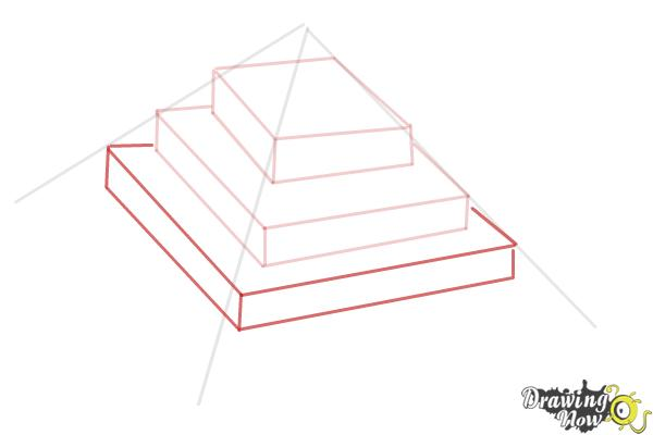 How to Draw a Ziggurat - Step 5