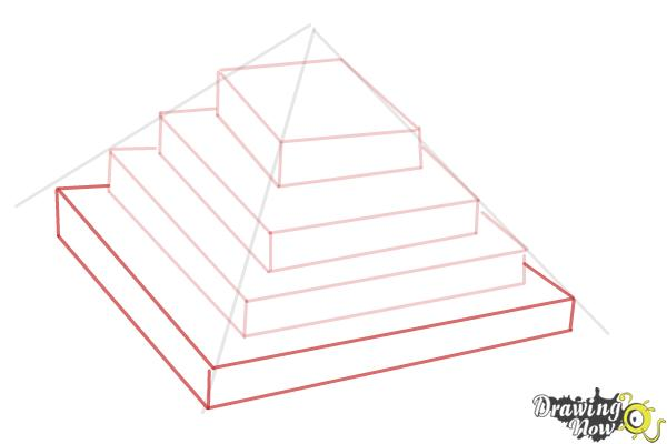 How to Draw a Ziggurat - Step 6
